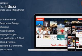 اسکریپت ساخت شبکه اجتماعی SocialBuzz نسخه ۱٫۴