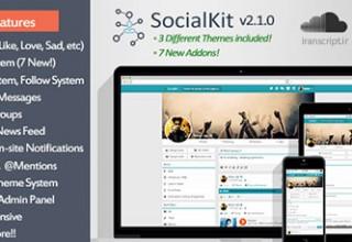 اسکریپت شبکه اجتماعی SocialKit نسخه ۲٫۱٫۰
