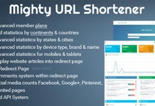 اسکریپت کوتاه کننده لینک Mighty URL Shortener نسخه ۱٫۰٫۱