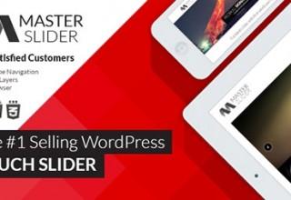 افزونه ایجاد اسلایدر حرفه ای Master Slider نسخه ۳٫۰٫۴ برای وردپرس