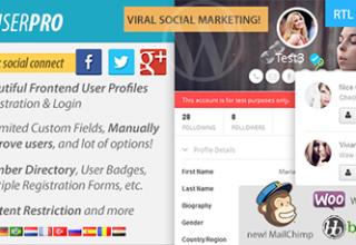 افزونه عضویت حرفه ای UserPro برای وردپرس