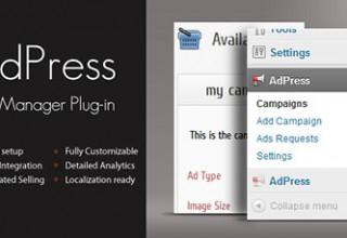 افزونه مدیریت تبلیغ AdPress برای وردپرس