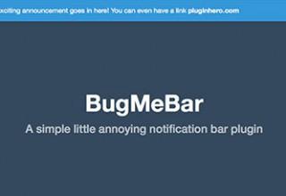 افزونه نمایش نوار اطلاعیه BugMeBar در وردپرس