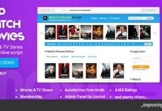 دانلود اسکریپت دانلود و پخش آنلاین فیلم PHP Watch Movies