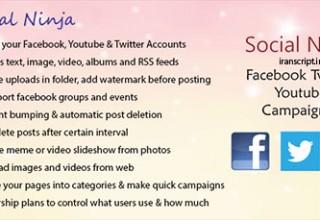 دانلود اسکریپت ساخت و مدیریت کمپین تبلیغاتی در شبکه های اجتماعی Social Ninja
