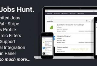 دانلود اسکریپت کاریابی آنلاین Jobs Hunt نسخه ۱٫۰٫۳