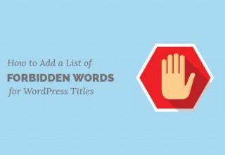 لیست کلمات ممنوعه وردپرس برای عنوان نوشته ها