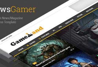 پوسته مجله خبری بازی NewsGamer نسخه ۱٫۷٫۶ برای وردپرس