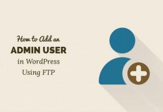 کد ایجاد کاربر مدیر وردپرس توسط ftp