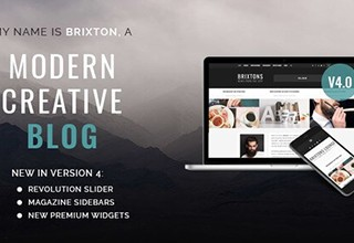 دانلود قالب وبلاگ شخصی Brixton برای وردپرس