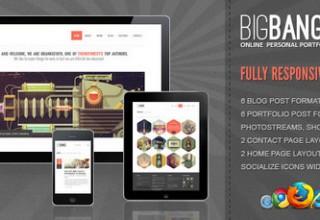 دانلود پوسته شرکتی BigBang برای وردپرس