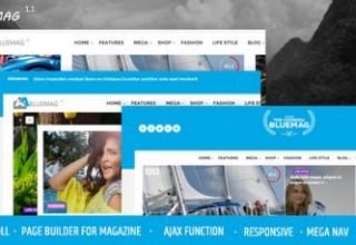 دانلود پوسته مجله ای Bluemag برای وردپرس