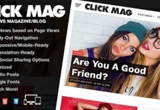 دانلود قالب مجله خبری Click Mag برای وردپرس