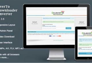 اسکریپت دانلود و تغییر فرمت ویدئوها به صورت آنلاین ConverTo نسخه ۱٫۳٫۲