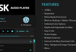 افزونه پخش موسیقی Disk Audio Player وردپرس
