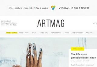 قالب هنری Artmag برای وردپرس