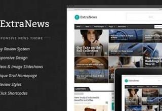 پوسته خبری ExtraNews برای وردپرس