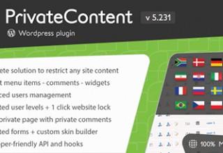 افزونه محدویت نمایش مطالب به کاربران PrivateContent برای وردپرس