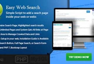 اسکریپت جستجوگر حرفه ای Easy Web Search