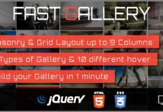 افزونه ساخت گالری های حرفه ای Fast Gallery برای وردپرس