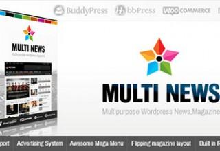 دانلود پوسته خبری Multinews نسخه ۲٫۵٫۵ برای وردپرس