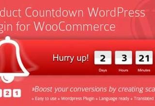 شمارش معکوس برای محصولات ووکامرس با افزونه Product Countdown نسخه ۴٫۰٫۹