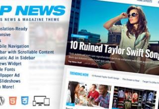 قالب خبری TOP News برای وردپرس
