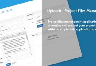 اسکریپت مدیریت پروژه Uploadr
