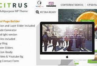 قالب تک صفحه ای چندمنظوره Citrus برای وردپرس