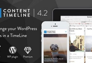 افزونه اسلایدر حرفه ای Content Timeline برای وردپرس