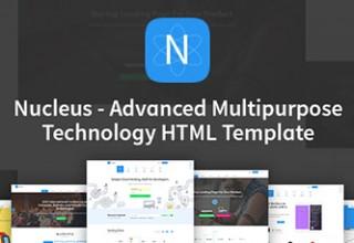 قالب چندمنظوره Nucleus به صورت HTML5