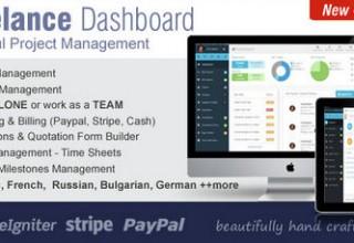 اسکریپت ارتباط با مشتری و مدیریت پروژه Freelance Dashboard
