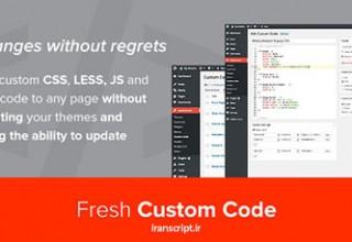 افزونه درج کدهای سفارشی برای وردپرس