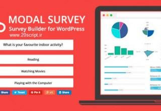 افزونه ایجاد نظرسنجی Modal Survey برای وردپرس