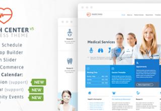 قالب مراکز بهداشتی درمانی Medical Health برای وردپرس