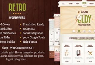 دانلود پوسته فروش محصولات Retro برای وردپرس