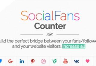 افزونه نمایش طرفداران در شبکه های اجتماعی SocialFans برای وردپرس