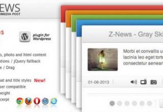 دانلود افزونه باکس اخبار Znews برای وردپرس