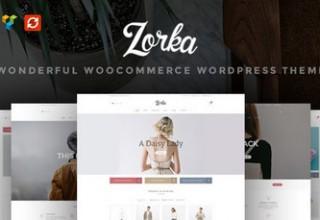 قالب فروشگاه مد و زیبایی ZORKA برای وردپرس
