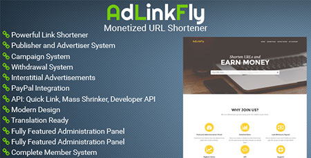 دانلود اسکریپت کوتاه کننده لینک AdLinkFly