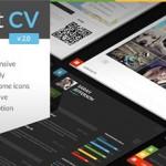 قالب شخصی و نمونه کار ShiftCV برای وردپرس
