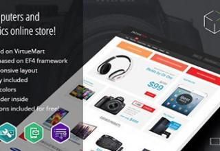 قالب فروشگاه آنلاین Electronics نسخه ۱٫۰۳ برای جوملا