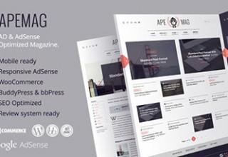 پوسته مجله خبری وردپرس Apemag نسخه ۱٫۰٫۶
