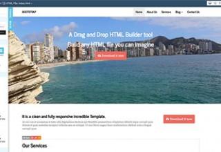 اسکریپت ساخت قالب Bootstrap HTML Builder
