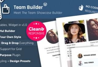 افزونه معرفی تیم شرکت و سایت Team Builder برای وردپرس