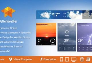 افزونه نمایش وضعیت آب و هوا Better Weather برای وردپرس