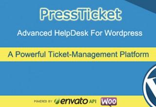 افزونه پشتیبانی تیکتی PressTicket وردپرس