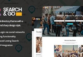 پوسته دایرکتوری Search & Go نسخه ۱٫۵ برای وردپرس