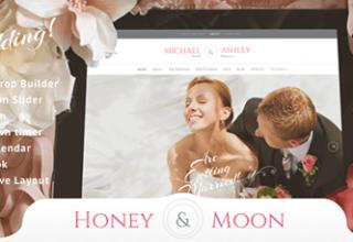 پوسته عاشقانه Honeymoon & Wedding برای وردپرس