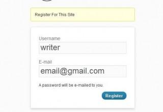 نمایش متن دلخواه در صفحه ی ثبت نام وردپرس
